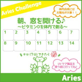 4月のアリーズチャレンジ~朝、窓をあける~